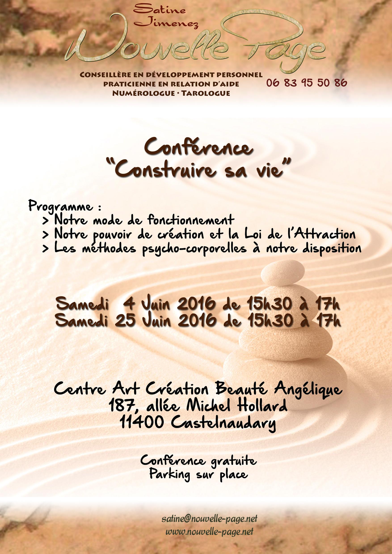 Affiche Conférence Juin 2016 - Construire sa vie