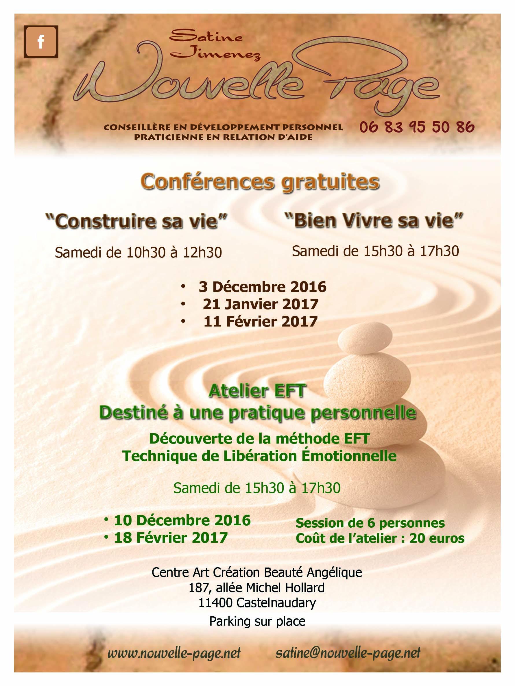 Affiche conférences gratuites 2016-2017
