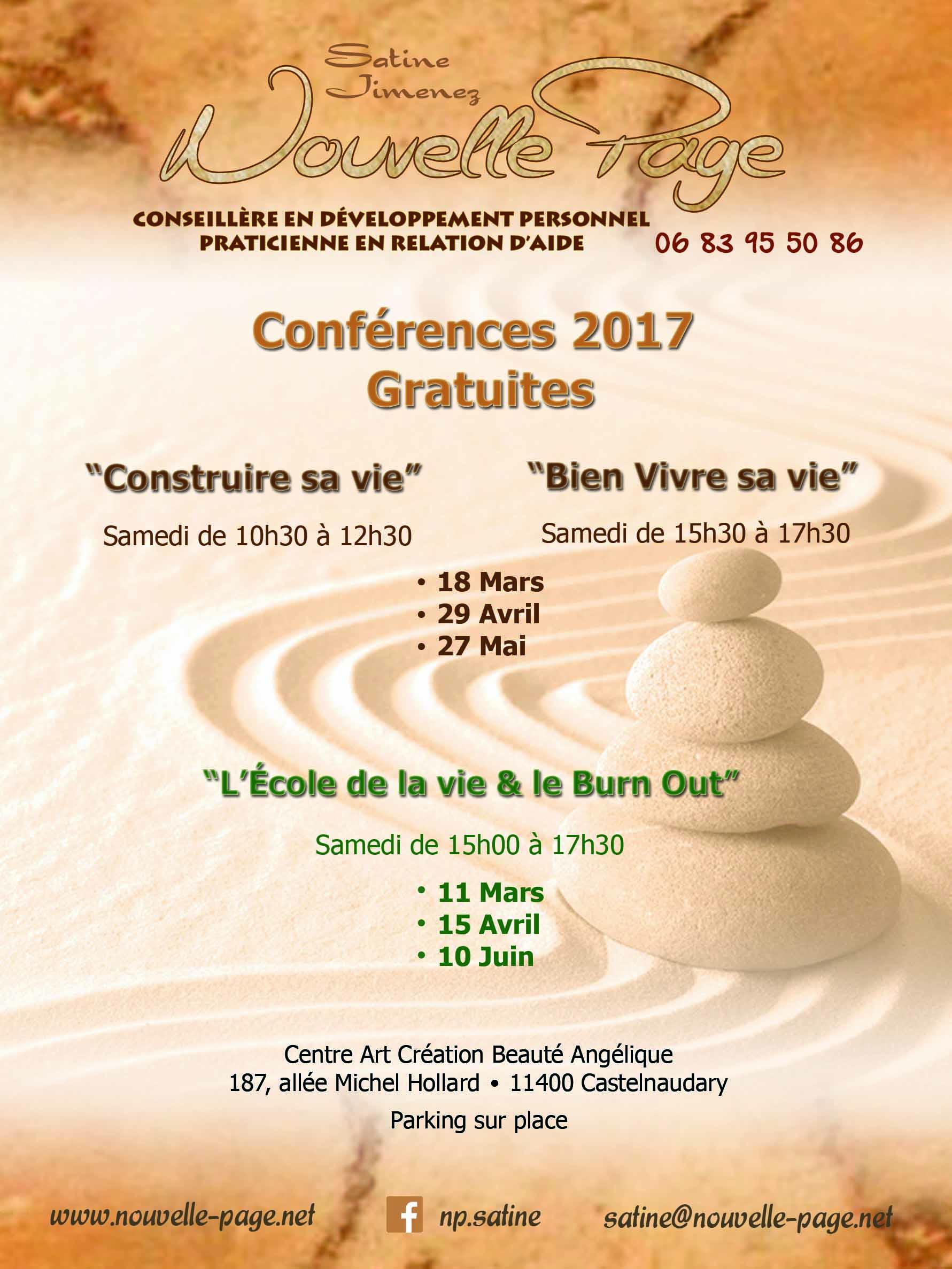 Affiche conférences gratuites 2017
