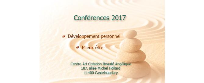 Conférences Développement personnel & Mieux-être 2017