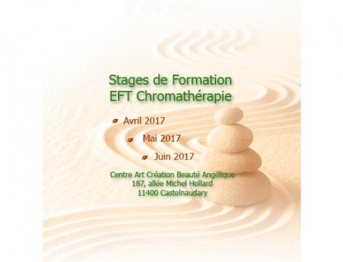 Stages de formation EFT Chromathérapie